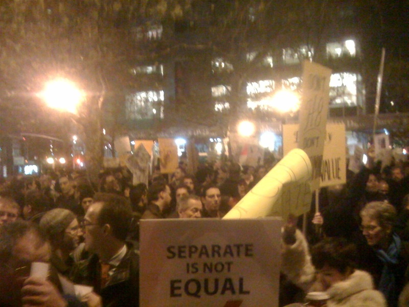 NYC Prop 8 demo